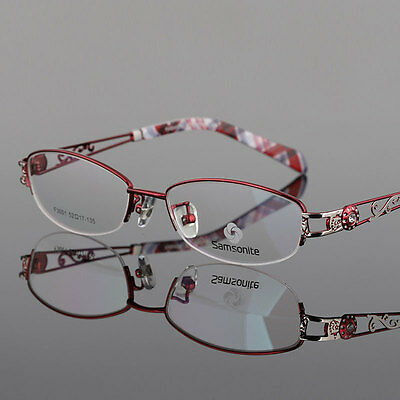 (Women Titanium Alloy Eyeglass Frame Myopia Glasses Eyewear Spectacles Optical RX)