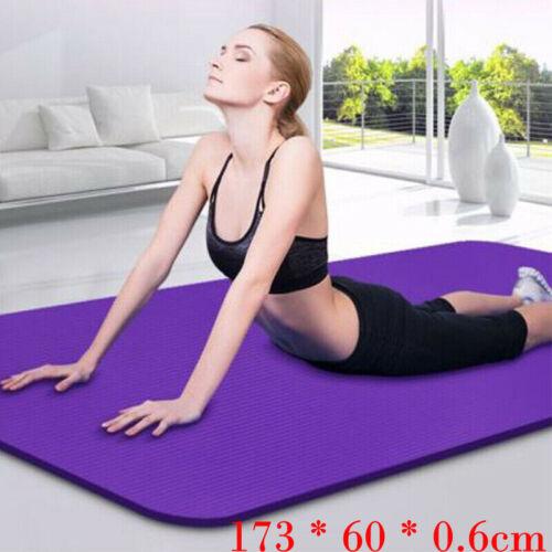 Extra Thick Yoga Mat 6mm Non Slip Exercise Pilates Gym Picni