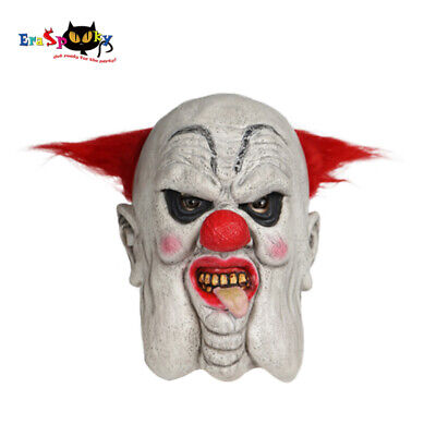 Scary Halloween Fat Clown Mask with Hair Costume Party Crackers the Clown