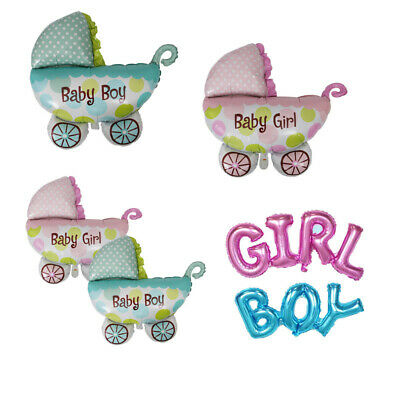 Boy Girl Foil Balloon Baby Car Ballons Gender Reveal Baby Shower Birthday - Girl Balloon