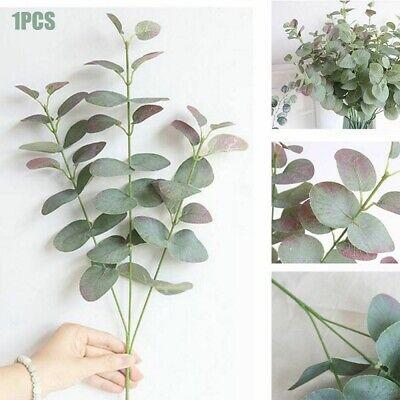 Artificial Fake Leaf Eucalyptus Green Plant Silk Flowers Nordic Home Wall Decor