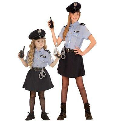 POLICE GIRL POLIZEI MÄDCHEN Kinder Kostüm Größe 116 - 158 cm, Polizistin - Cop Kind Kostüm Mädchen