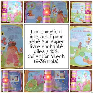 Livre de chansons pour bébé un V-Tech / piles / 15$