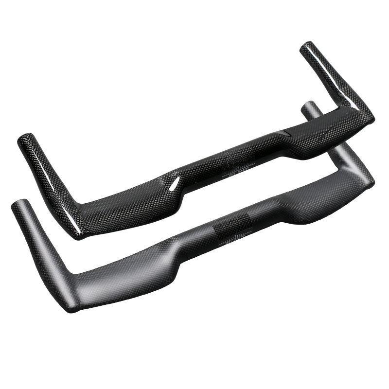 TEMANI Carbon 3K Bicycle Handlebar TT Time Trial Bullhorn Bar 31.8*400//420//440mm