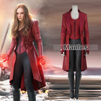 Avengers 3 Infinity War Costume Scarlet Witch Wanda Maximoff Cosplay New - Woman Witch Costume