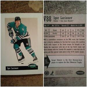 V88 : Igor Larionov : Parkhurst Vintage : Hockey Card