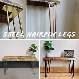 INDUSTRIAL DESIGNED STEEL HAIRPIN LEGS