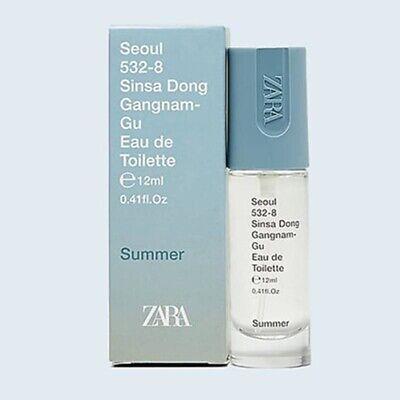 ZARA SEOUL SINSA DONG SUMMER for MEN * 0.41 oz (12ml) EDT Spray * NEW & SEALED