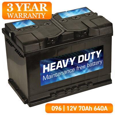 WW096 Car Battery 096 12V 70Ah 640A Heavy Duty High Performance