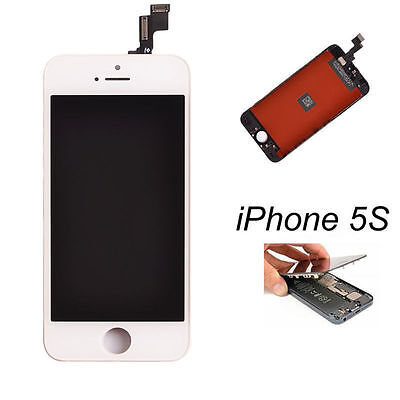White LCD Display+Touch Screen Digitizer Assembly Replacement for iPhone 5S OEM+ on Rummage