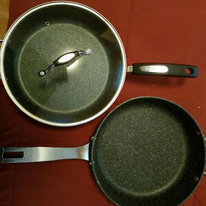 2 Never used The Rock 11' fry pans, only 1 lid though