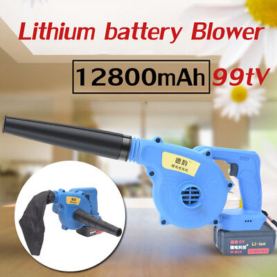 99TV 12800mAh Cordless Electric Power Air Blower Vacuum Collector Soot + Charger