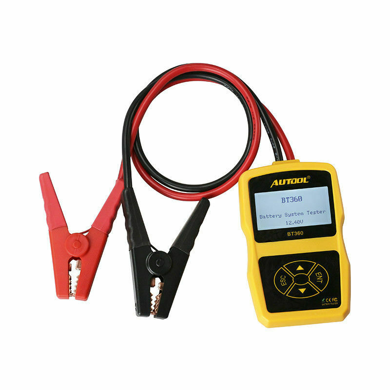 Autool BT-360 DC 12V Vehicle Battery Charger Tester Cell Testing Repair Tools