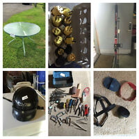 Cleaning basement out,Yard sale items odds & ends