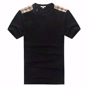 Burberry Golden Plaid Shoulder Desgin Short Sleeve,Black,Size M Mount Druitt Blacktown Area Preview