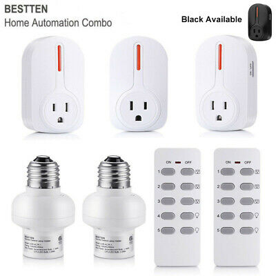 Power Socket Outlet - 1,4,5 Pack Wireless Remote Control Electrical Outlet Power Socket Light Switch