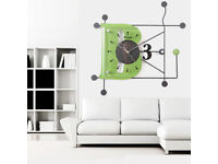 35cm Large Digital Mute Quartz Motion B Alphabetic Wall Clock In outdoor Décor