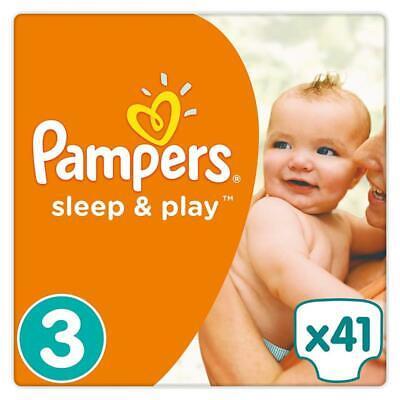 Pampers Sleep & Play Windeln Größe 3 (5-9 kg), Einfach trocken 41Stück