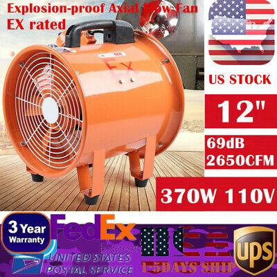12 Explosion-proof Ex Axial Fan Ventilator Exhaust Fan 110v 370w 2650cfm 69db