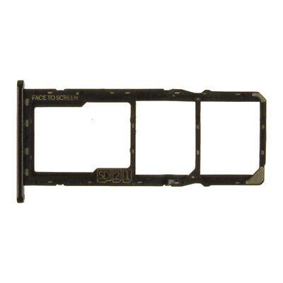 SIM Micro SD Card Tray Dual for Motorola Moto G7 Play Black