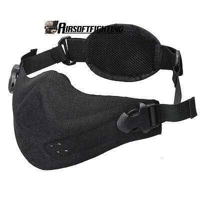 Mens Military Hunting Dustproof Half Face Gear Mask Guard Tactical Protective BK