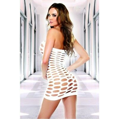 Cut Out Tube Dress - Spandex Cut Out Hole Mini Rave Dress Tube Top Chemise Dance Wear Beach Cover US