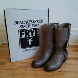 "Brand New Frye ""Harness 12R"" Boots in Slate Grey - Size 10"