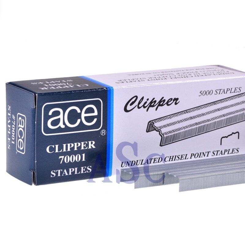 4 Boxes Ace Clipper Undulated Chisel Point Staples 70001 Scout Stapler 202 AC-1