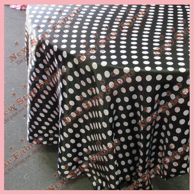 Black White Polka Dot Tablecloth (Tablecloth 108