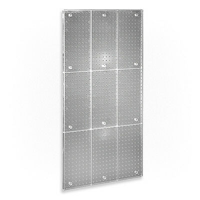 New Clear Frosted Plastic Pegboard Powerwing Display Wall Panel 24w X 48high