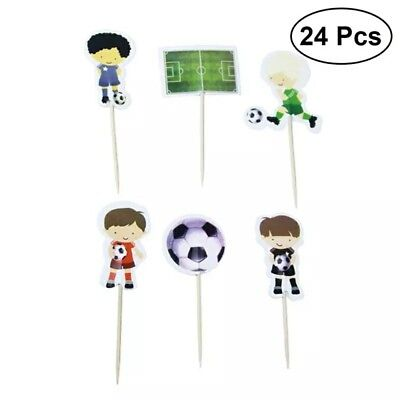 Football Cupcake Toppers / Picks X 24 Decorating Cup Cake Party Kids Birthday ](Football Cupcake Picks)