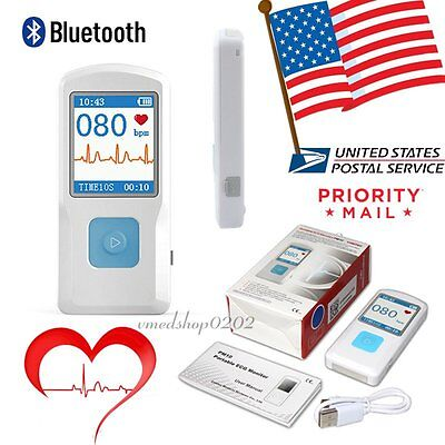 Usapm10 Portable Ecg Recorder Heart Rate Monitor Bluetooth Softwarephone App