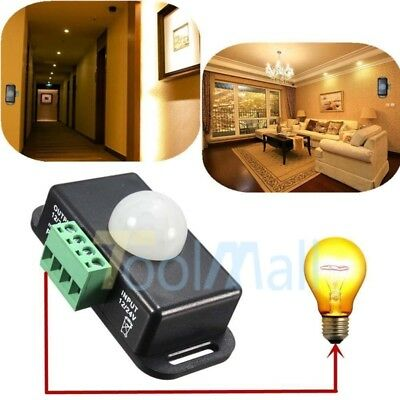 Automatic DC 12V-24V 8A Infrared PIR Motion Sensor Switch For LED light Best