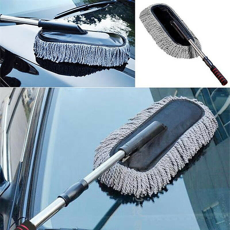 Car Dust Cleaning Brush Duster Mop Auto Duster Washer Tool Microfiber
