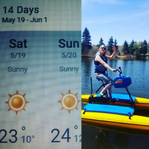 Long  weekend Edmonton. Hydrobikes