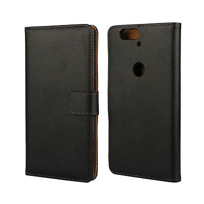 Best For Huawei Nexus 6P Genuine Leather Wallet Case Phone Cover Phone