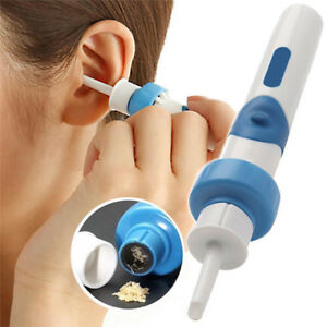 Cordless Safe Vibration Painless Vacuum Ear Wax Pick Cleaner Remover Electric UK