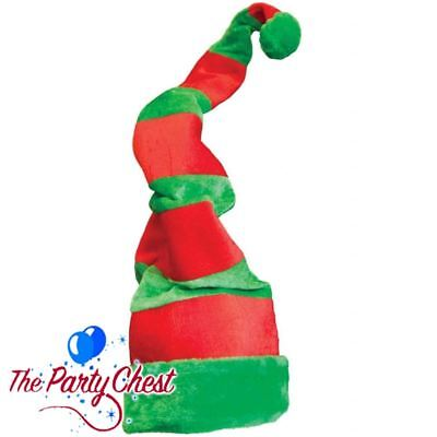 GIANT CRAZY LONG ELF HAT Christmas Office Party Festive Elf Costume Hat Xmas Fun - Crazy Christmas Hat