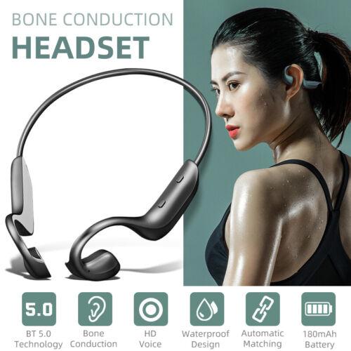 Bone Conduction Wireless Headset Outdoor Sport Bluetooth 5.0 Headphones Ear-hook