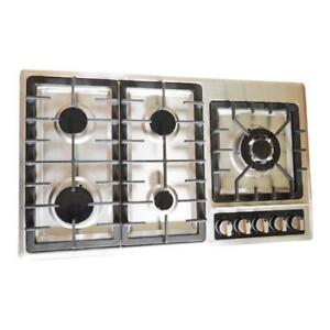 Gas Cooktop with 5 Burners(Natural Gas,Stainless Steel,110V) 024206