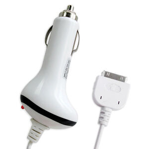 12V Car Charger for iPhone 4S 4 3GS 3G iPad 1st 2nd 3rd Generation iPod Touch