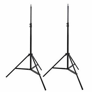 2x Light Stands Tripods for Photo/FlasVideo/HTC Vive 90-210cm NEW Chatswood Willoughby Area Preview