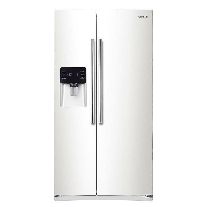 "Samsung RS25H5121WW 36"" White Side By Side Refrigerator Water & Ice NEW DEAL!"