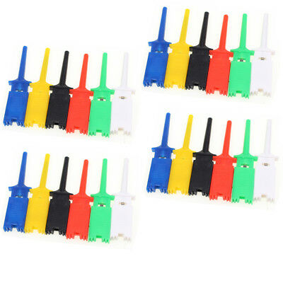 24 Grabber Test Hook Clip Probe 6 Color Multimeter Test Tools For Smd Ic 6 Color