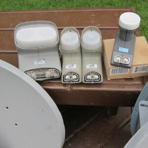 SATELLITE DISHES FOR SALE PLUS PARTS