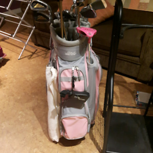 Ladies right handed clubs and accessories