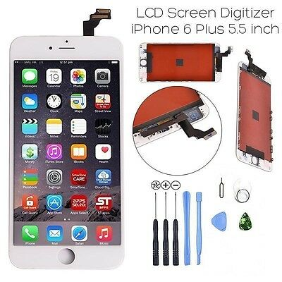 Touch Lcd Screens - White LCD Replacement Touch Screen Digitizer Assembly for iPhone 6 Plus + TOOLS