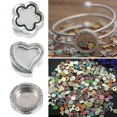 Fashion Star Heart Snap-it Floating Locket Chunk Charms Button Bracelet Jewelry
