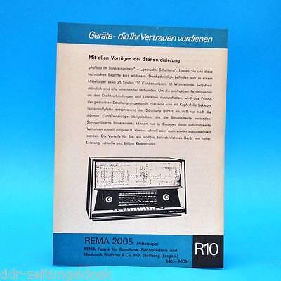Rema 2005 Mittelsuper DDR 1967 | Prospekt Werbung DEWAG Werbeblatt R10