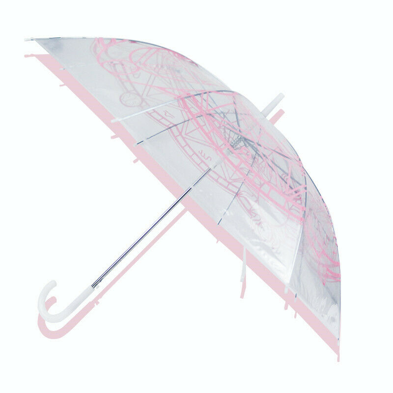 Card Captor Sakura Kinomoto Magic Array Transparent Umbrella Anime Umbrella Gift